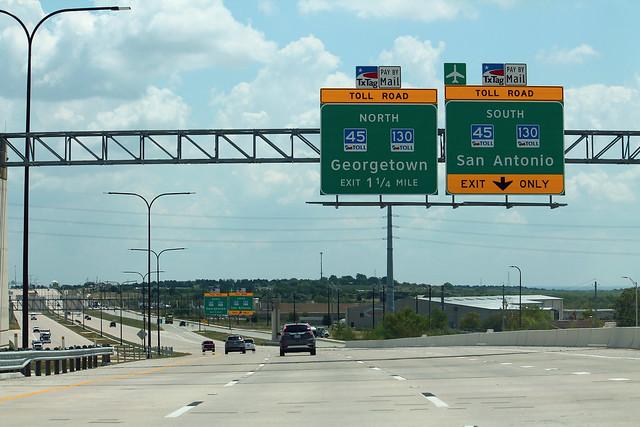 TX290 Toll East at TX45 TX130 Toll Exits