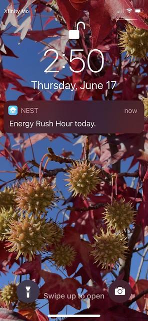 Energy Rush Hour alert