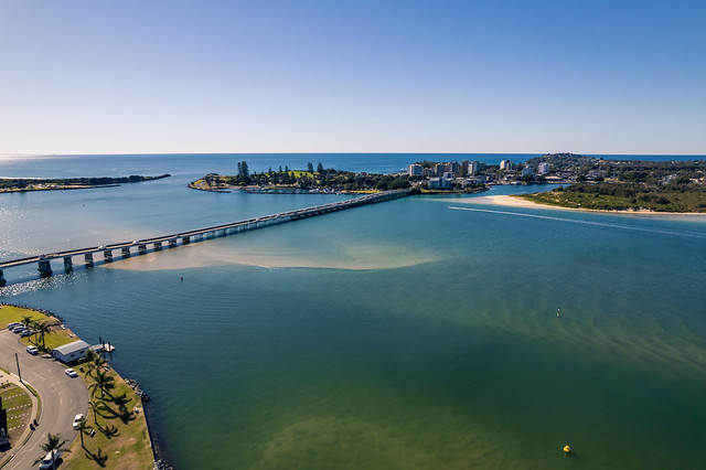 The Coolongolook River and bridge at Forster Tuncurry