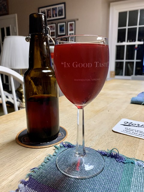 Homebrewed Blueberry Mead