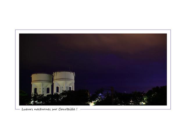 Night lights upon Courteille ! / Lueurs nocturnes sur Courteille !
