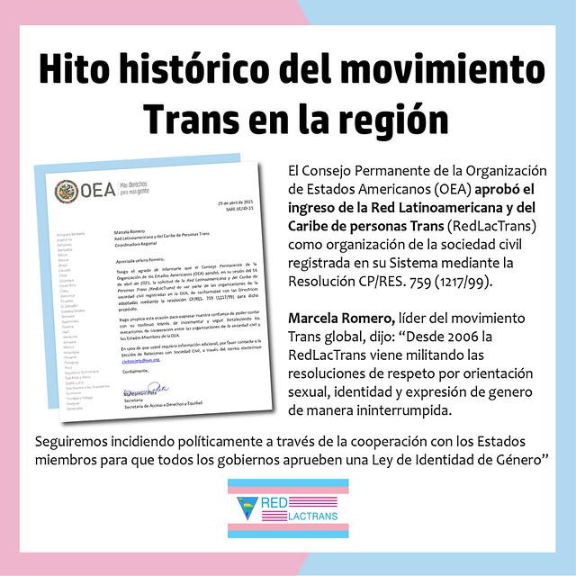 RedLacTrans en la OEA