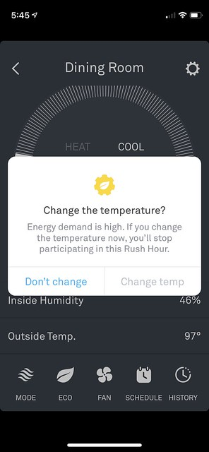 Changing the temperature?