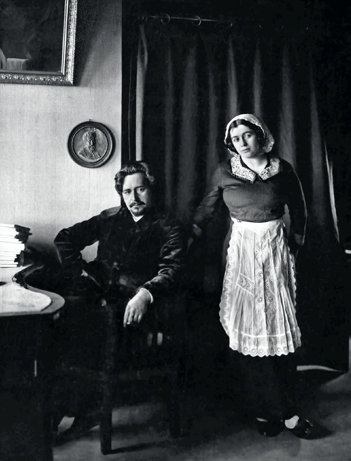 1912. Леонид Николаевич Андреев с женой Анной Ильиничной.