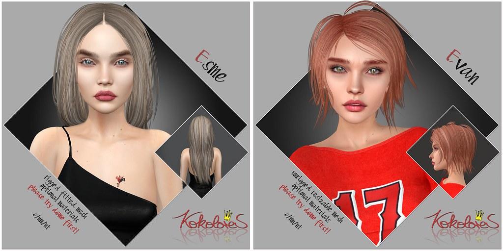 [KoKoLoReS] for Hair Fair 2021 – Esme & Evan