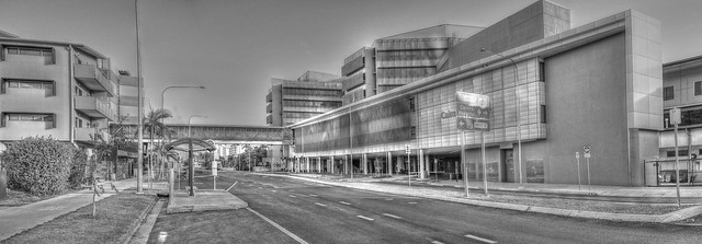 Cairns Hospital Rear View - Oct 4, 2014