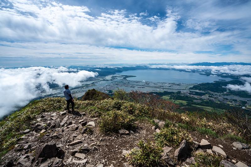 磐梯山から見た猪苗代湖