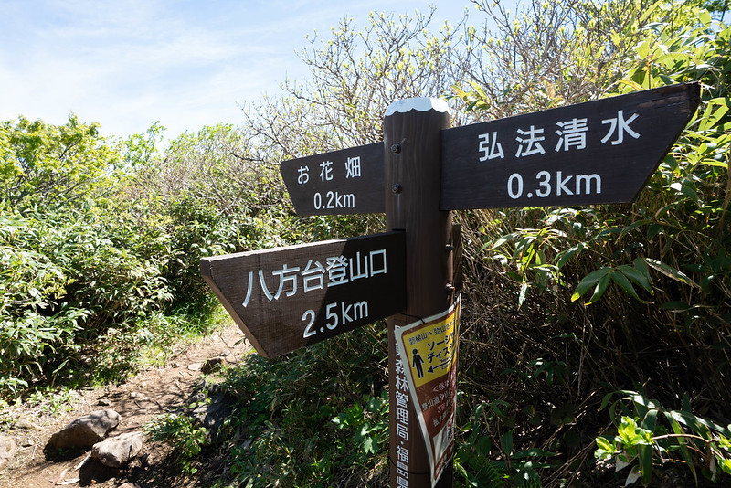 八方台登山口に下山
