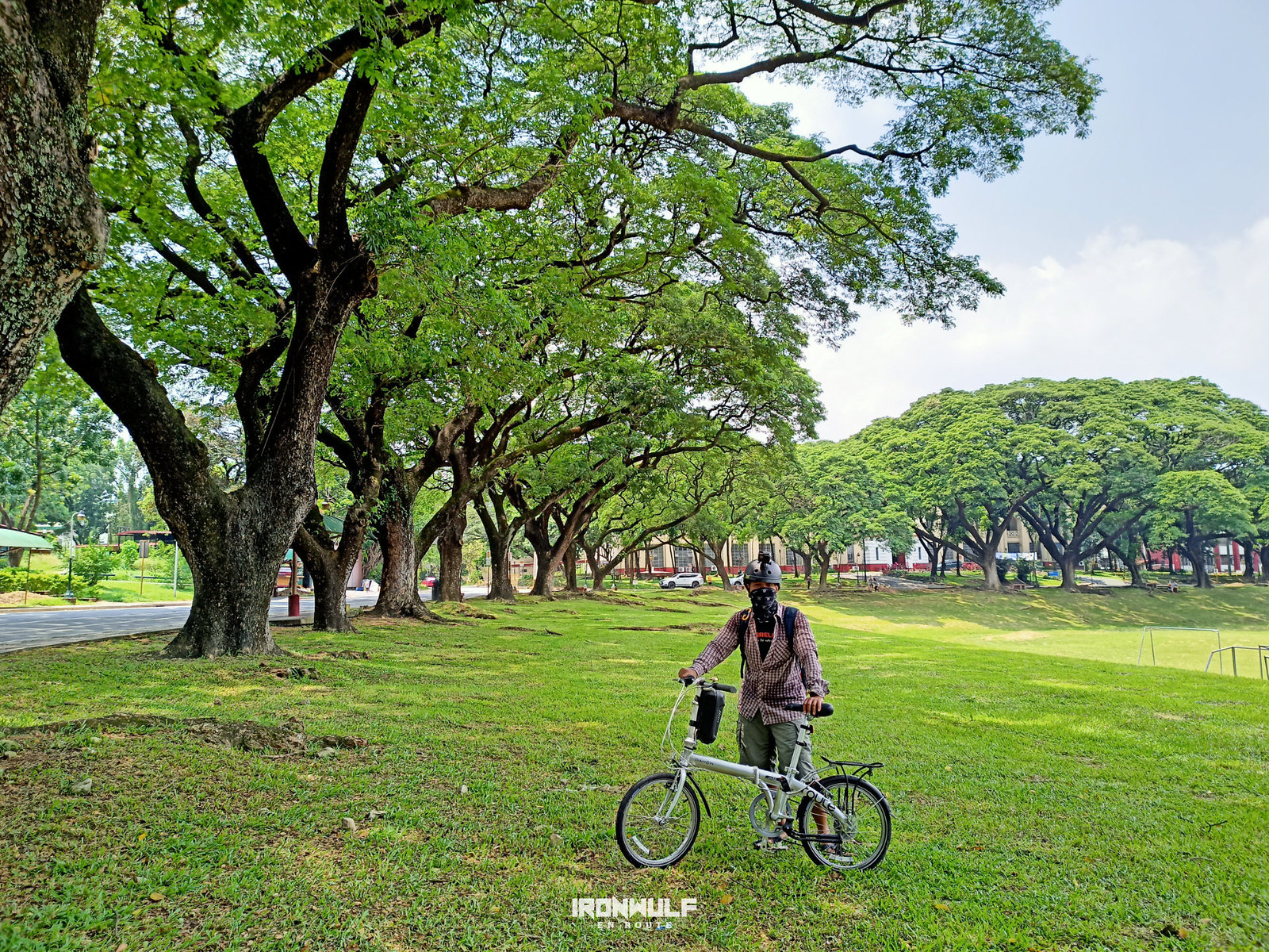 Enjoying the wide open space at UP Diliman
