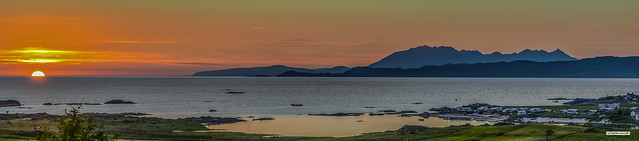 Probably the best place for sunsets in the world. The Arisaig coast to the Isle of Skye.
