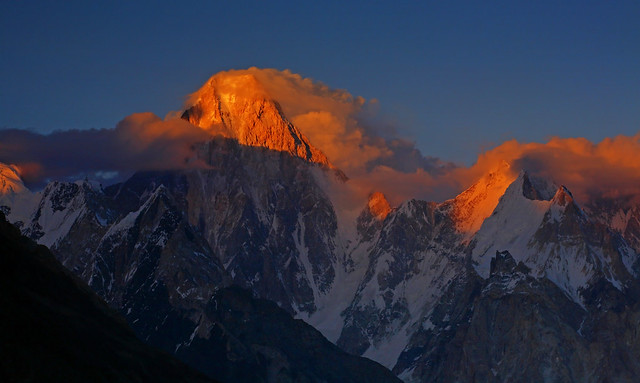 Gasherbrum IV: Sunset blush