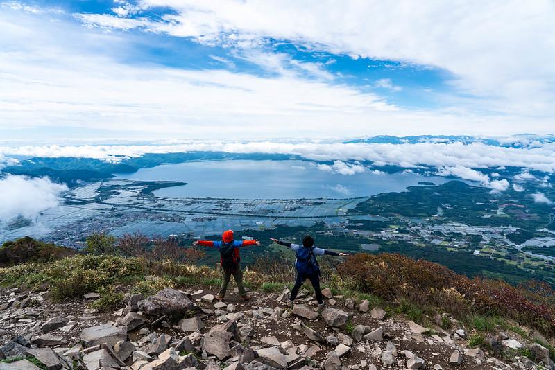 磐梯山の集合写真