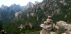 Sur le raccourci GR20 : fond  de vallée  de Frassiccia entre Pta Bunifazinca et Calanca Murata (photo Olivier Hespel)