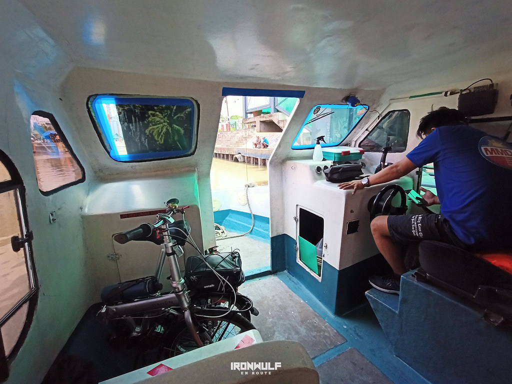 Taking my folding bike in a Pasig River Ferry boat