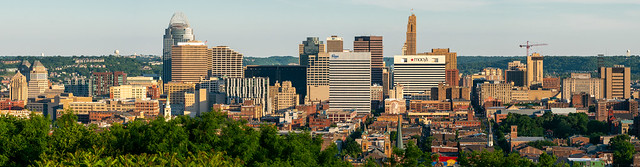 Cincinnati Skyline from Bellevue Hill Park