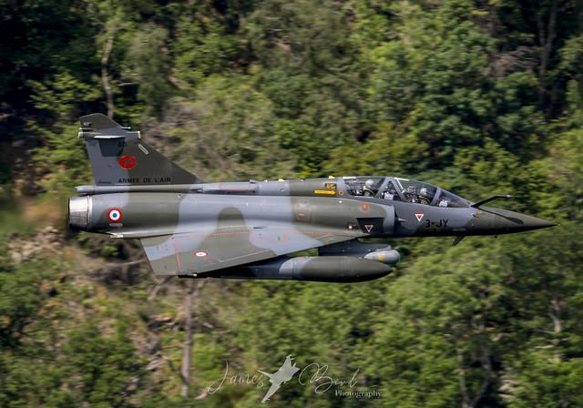 Armée de l'air Dassault Mirage 2000D c/s FAF7261 low level in the English Lake District