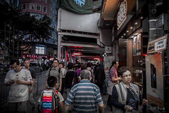 Busy Street of Wan Chai