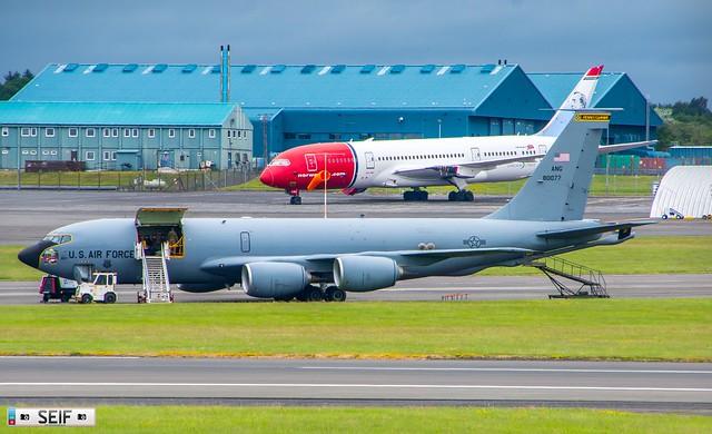 80077 Boeing KC-135Q Stratotanker Prestwick Scotland 2021