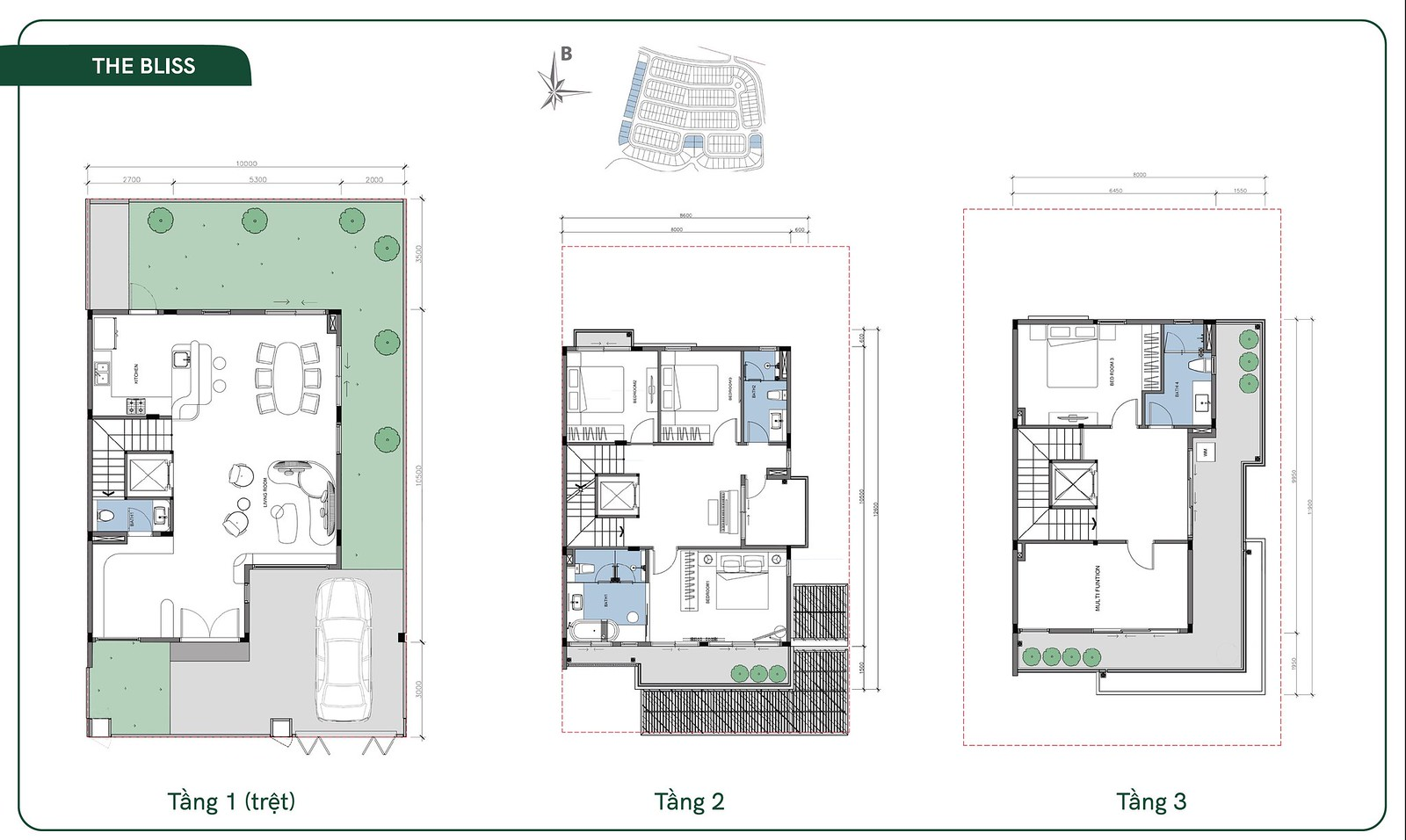 thiết kế layout mẫu The Bliss