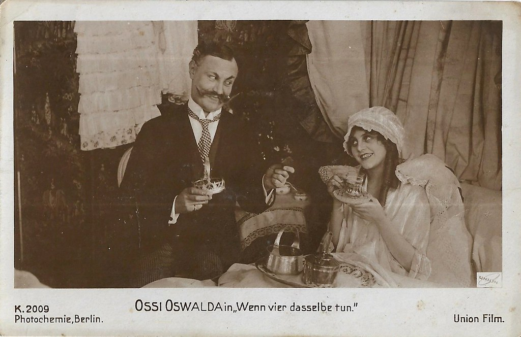 Ossi Oswalda and Emil Jannings in Wenn vier dasselbe tun