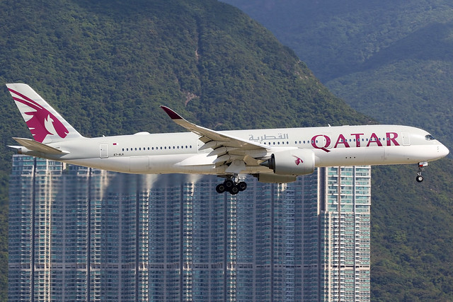 Qatar Airways | Airbus A350-900 | A7-ALK | Hong Kong International
