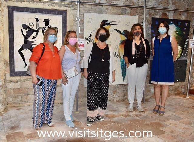 Visita a la feria del Patchwork de la alcaldesa de Sitges
