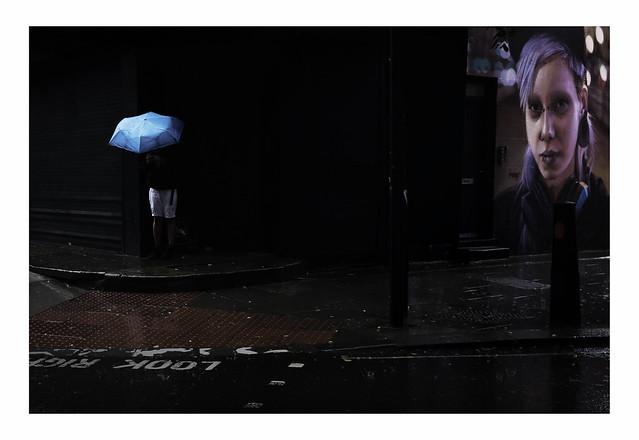 Umbrella in the Darkness | Camden Town, London