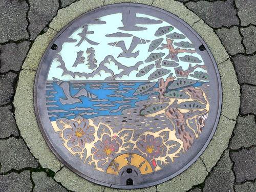 Oiso Kanagawa, manhole cover (神奈川県大磯町のマンホール)