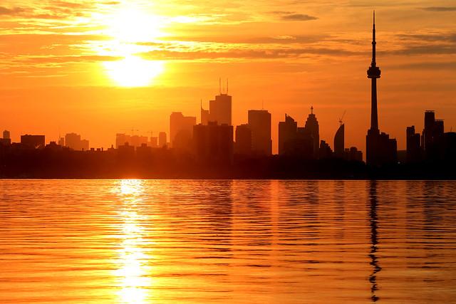 Fiery Toronto sunrise