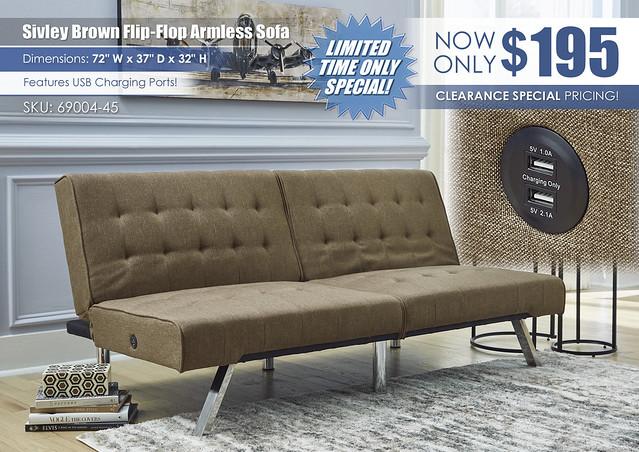 Sivley Brown Flip Flop Armless Sofa_69004-45-A4000231-UP-ALT