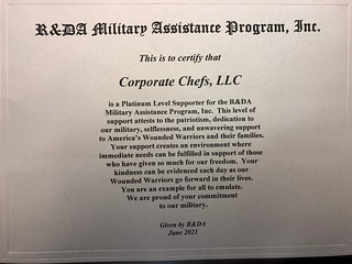 Award for Particpating in the Military Assitence Program (MAP)