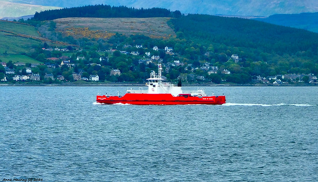Scotland a Western Ferry from Gourock arriving in Argyll on 22 May 2021 by Anne MacKay