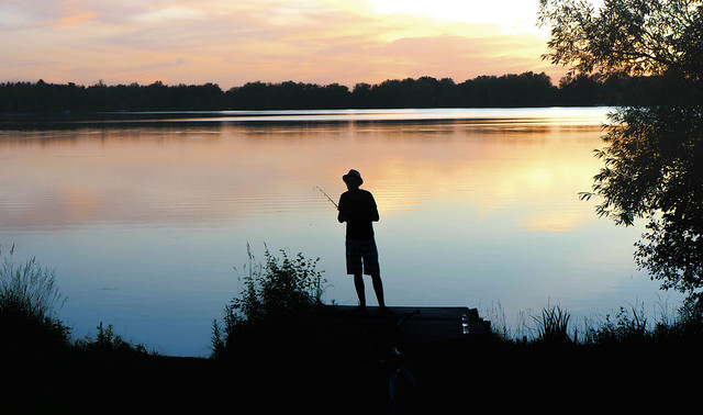 Late Day  Fishing Lake Wilcox