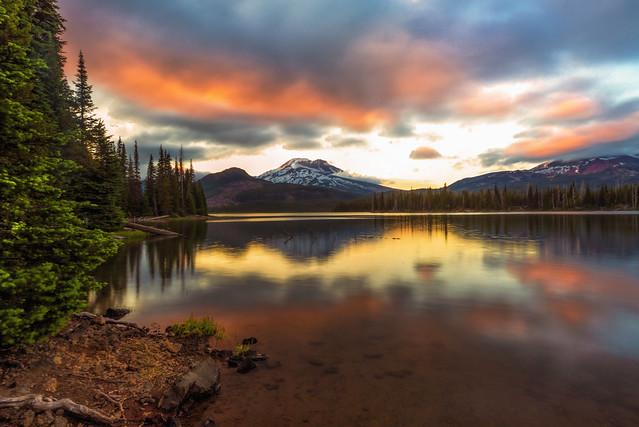 Sunset at Sparks Lake