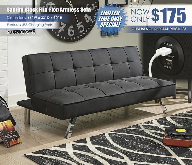 Santini Black Flip Flop Armless Sofa_68005-45-UP-A4000232-ALT
