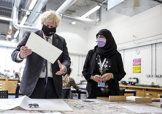 Prime Minister Boris Johnson visits Kirkless College