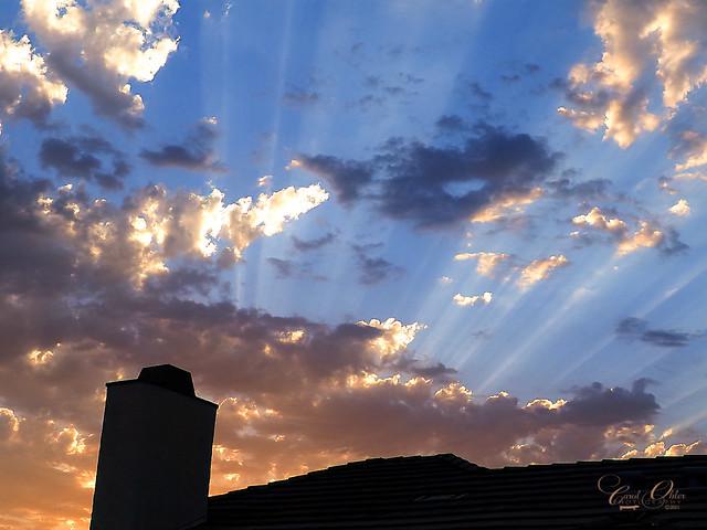 Sunset rays.