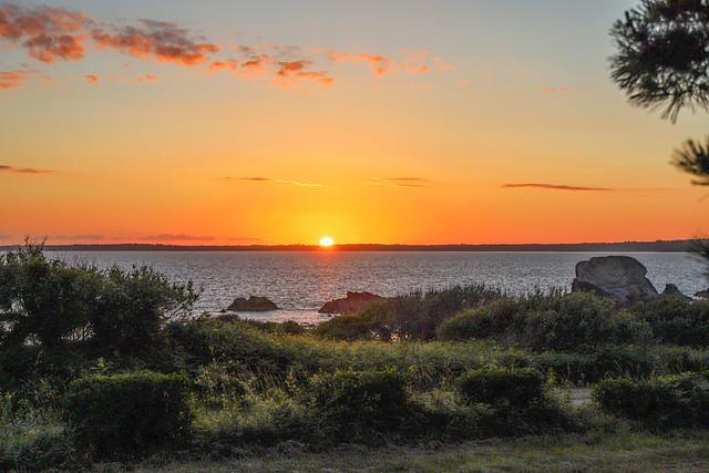 Coucher de soleil sur la rade de Brest (29)