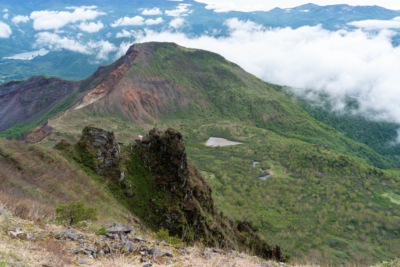 磐梯山から見た櫛ヶ峰
