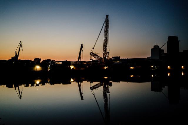 Evening glow + Harbor lights