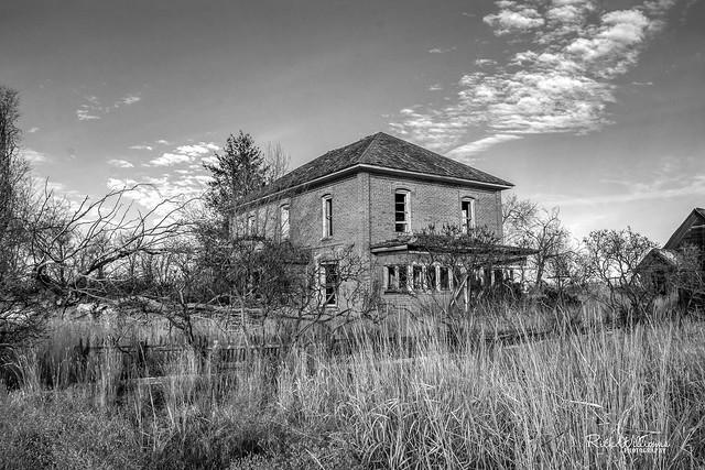 Abandoned Brick Farmhouse
