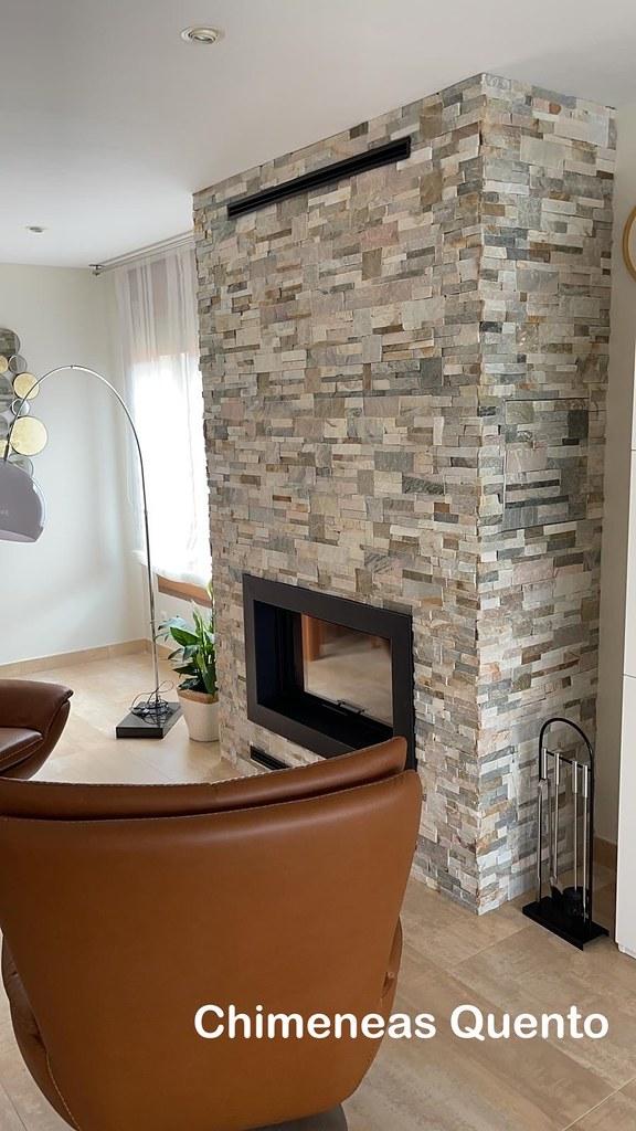 Chimenea Quento modelo Laja con hogar calefactor Hoxter.