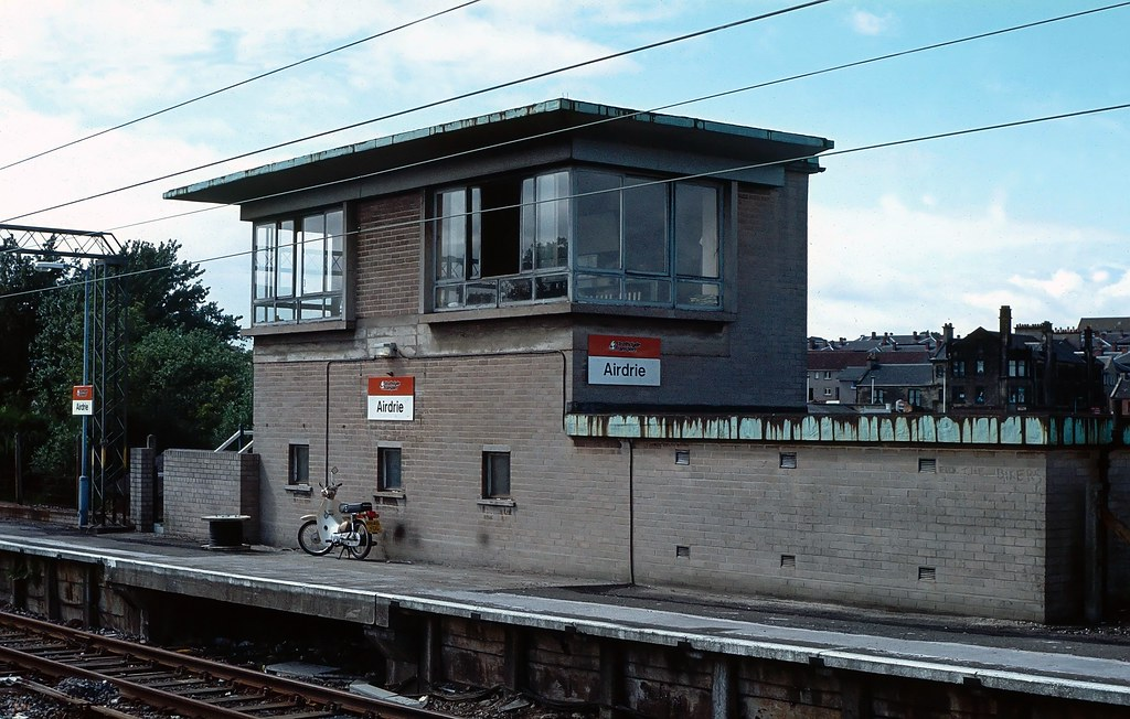 Airdrie Signal Box. 1985.