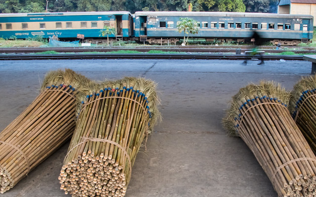 Motion blur image on the railway platform, I captured this image on December 10, 2019, from Dhaka, Bangladesh, South Asia