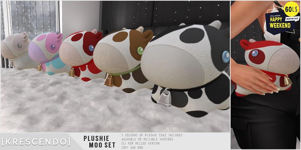 [Kres] Plushie Moo Set
