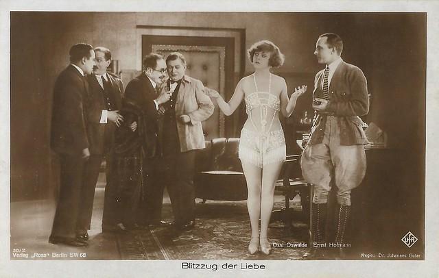 Ossi Oswalda and Ernst Hofmann in Blitzzug der Liebe (1925)