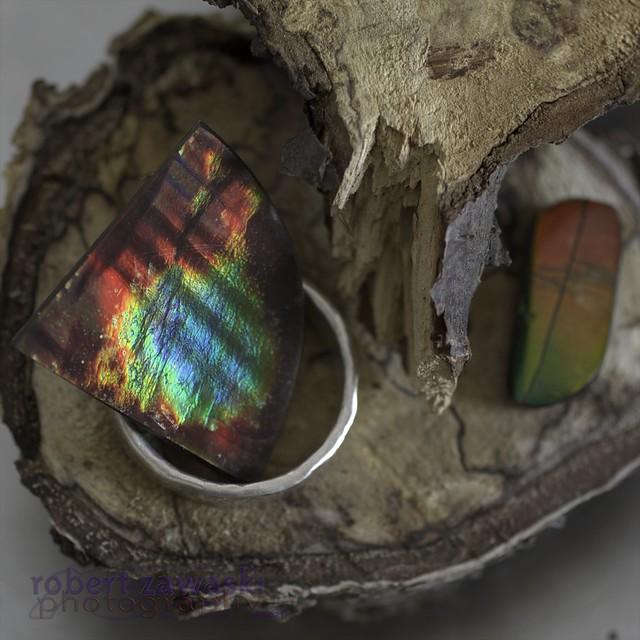 ammolite and silver