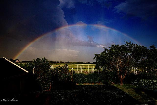Regenboog Rainbow Herwijnen 18 june 2021