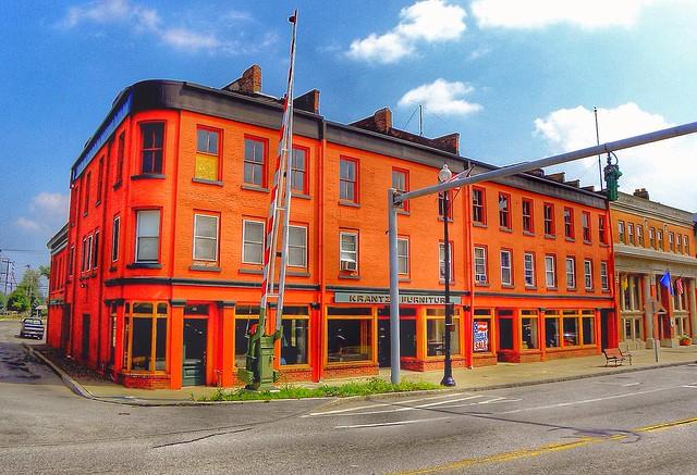 Albion - New York - Frantz Furniture Store Block - Historic Building