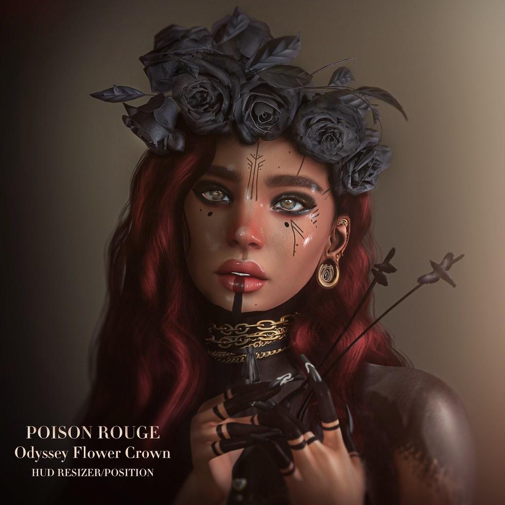 POISON ROUGE Odyssey Flower Crown @HAIR FAIR 2021